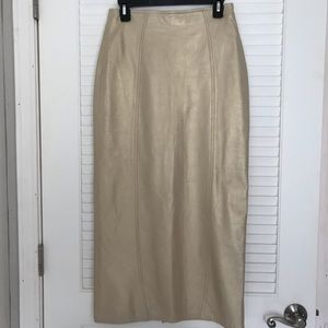 Twin's Vintage Leather Pencil Skirt